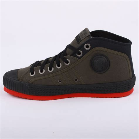 diesel shoes diesel mens trainers yuk anniversary laced canvas mid