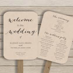 Wedding Fan Program Template wedding program fan template printable by hopestreetprintables