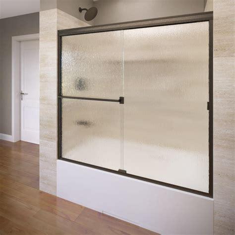 basco classic 28 1 8 in x 66 basco deluxe 59 in x 58 1 2 in clear framed sliding door