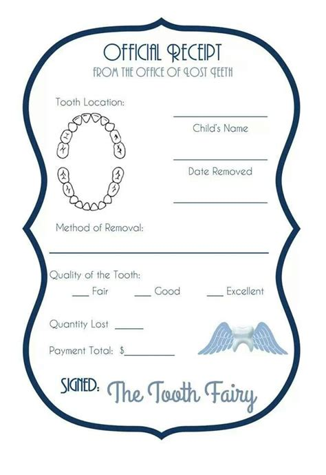 tooth receipt template 20 best tooth images on teeth tooth