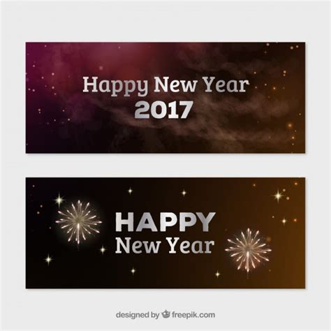new year banner vector fireworks new year banners vector free