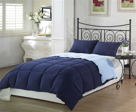 The Chezmoi Goose Down Queen Blue Comforter Set Reviews