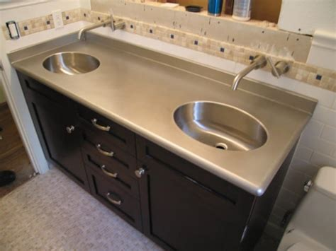 Stainless Steel Countertop With Sink by Bathroom And Kitchen Countertops Pros And Cons 3 3