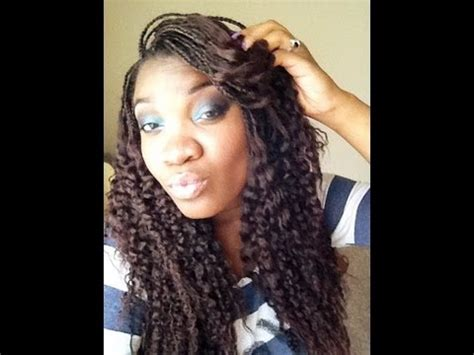 braids with crinkles how to crinkle micro braids youtube
