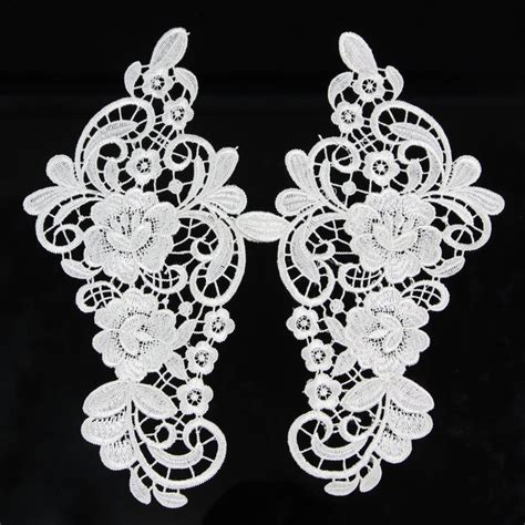 Flowers Lace aliexpress buy 1 pair white polyester lace trim