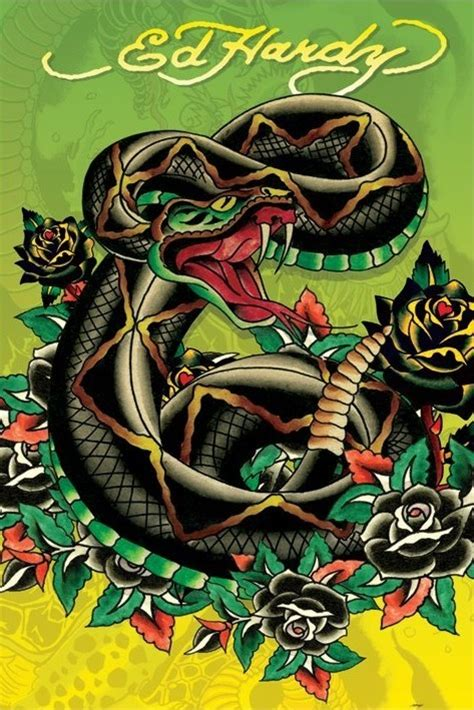 ed hardy snake poster sold at abposters com