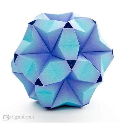 Modular Origami Balls - fuufuki asagao kusudama by tomoko fuse go origami