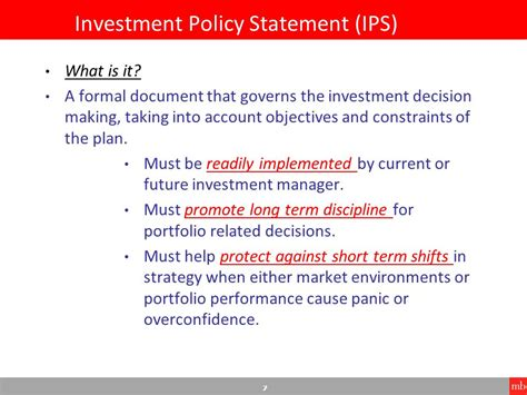Fundamentals Of Pension Fund Investing Ppt Video Online Download Foundation Investment Policy Statement Template