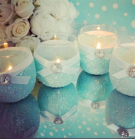 Pretty Candles Pretty Blue Candles Weddings