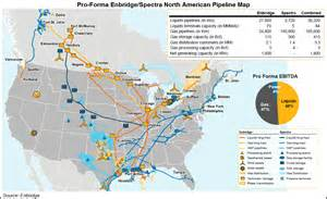 america pipeline map canada s enbridge would acquire spectra energy in us 28b