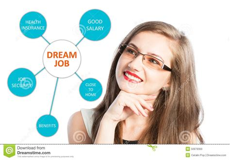 comfortable salary dream job with benefits list stock photo image 50979300