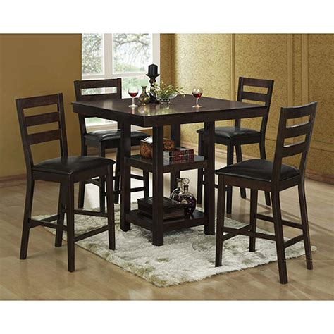 bunker hill counter height dining set walmart