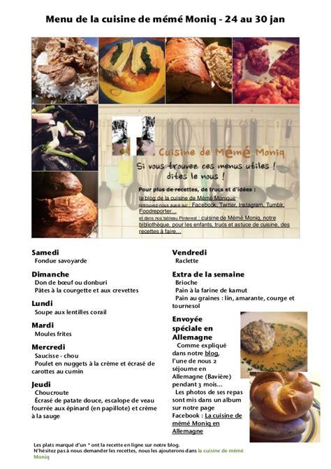 la cuisine de r馭駻ence pdf menu de la cuisine de meme moniq 30 jan pdf