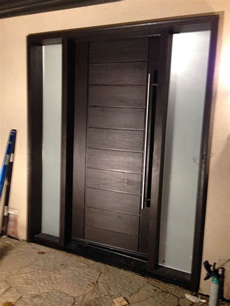 modern contemporary front entry fiberglass door with multi
