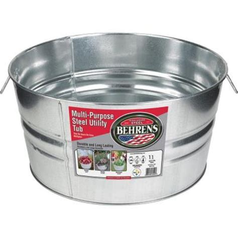 behrens 11 gal galvanized steel tub 1gsx the home