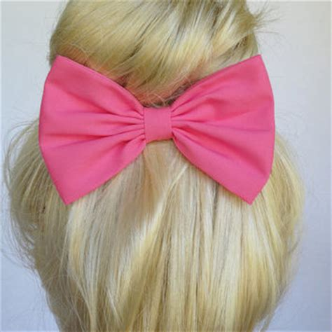 Handmade Hair Bows For Sale - pink hair bow clip handmade from bows