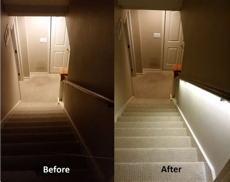 led light strips for stairs stair lighting solution with led strips