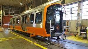 mbta new orange line cars the orange line mockup has arrived in boston