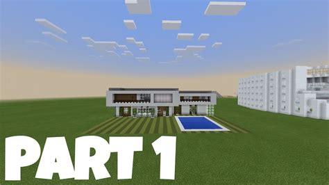 membuat rumah di minecraft cara membuat rumah modern di minecraft part 1 minecraft
