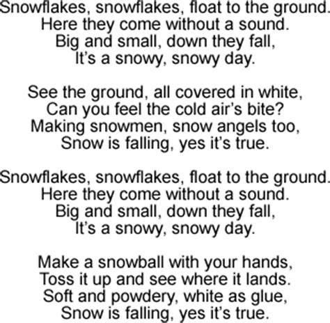 day songs snowy day song lyrics and sound clip