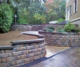 home depot retaining wall building a landscape block retaining wall home depot canada