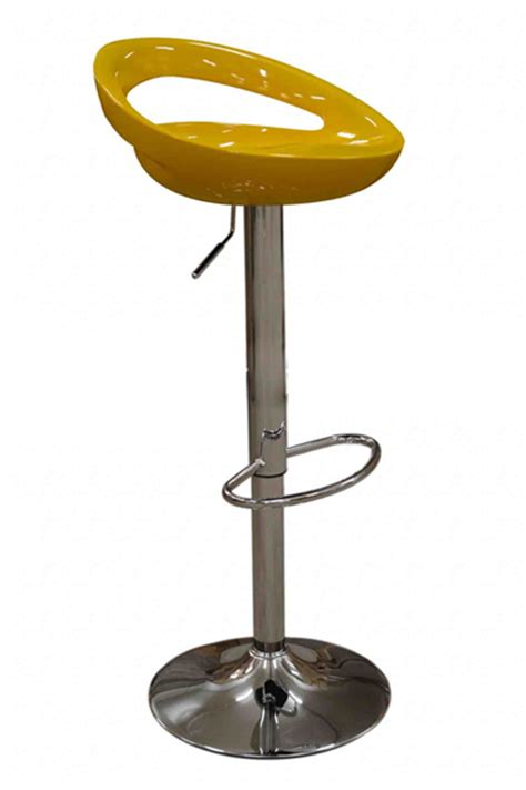 review of bright yellow cool crescent breakfast bar stool
