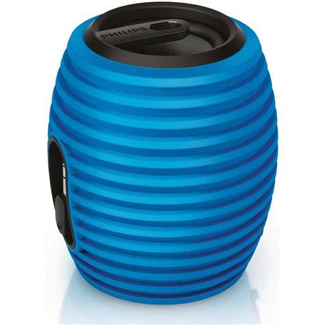 philips sba3010 37 soundshooter portable speaker blue ebay