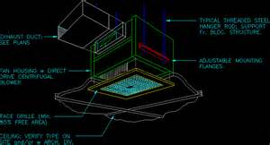 exhaust fan ceiling tile grill in autocad drawing