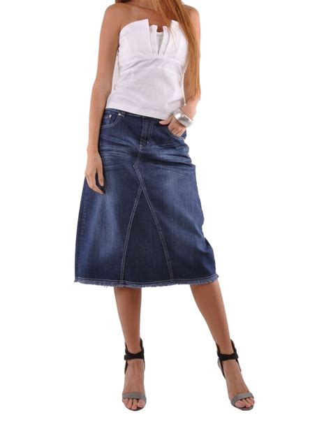 country chic denim skirt plus size cap 0593 style j