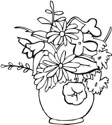 disegni di vasi vasi di fiori da colorare e stare 6