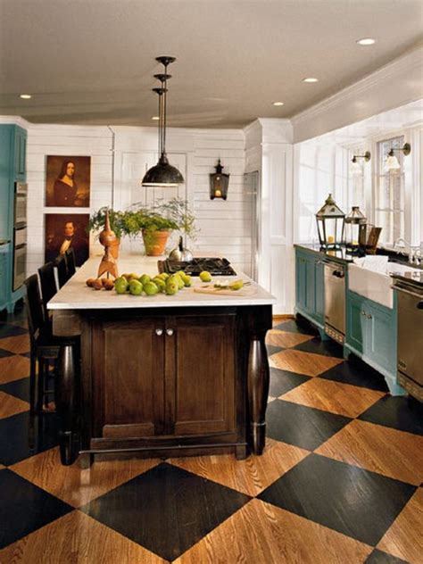 Kitchen Floor Paint Ideas The Appeal Of Checkerboard Floors
