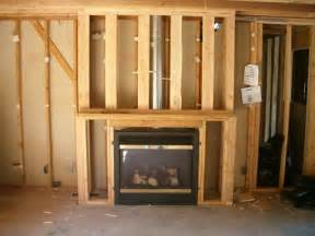 how to frame in a gas fireplace framing for fireplace