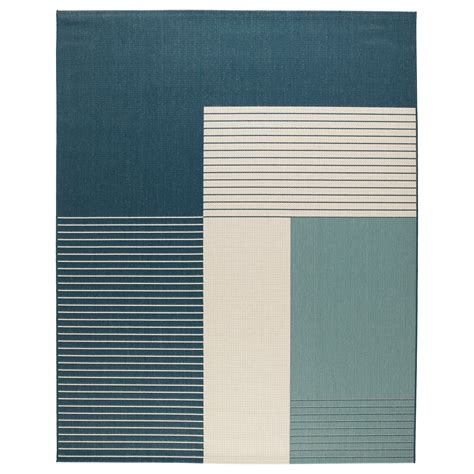 Roskilde Rug Flatwoven In Outdoor Green Blue 200x250 Cm Outdoor Carpet Rugs