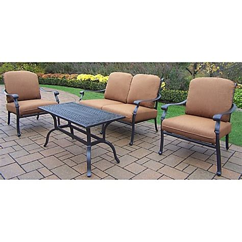 Sunbrella Outdoor Patio Furniture Oakland Living Clairmont Patio Furniture Collection With Sunbrella 174 Cushions Bed Bath Beyond