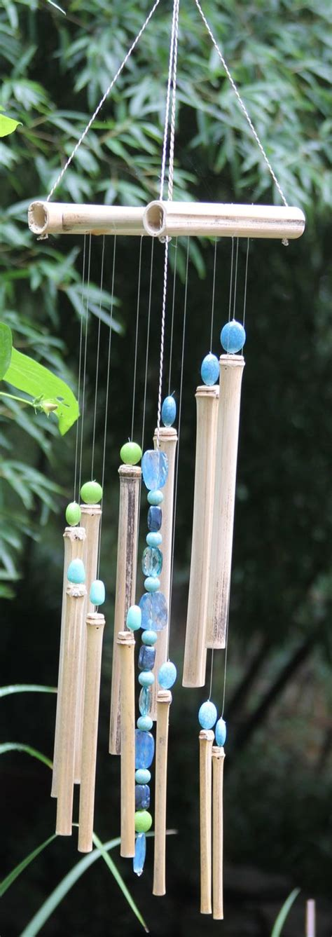 7 Pretty Wind Chimes by Beautiful Crafted Bamboo Wind Chimes With By