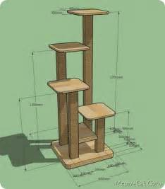 Treehouse Condos - how to build your own cat tree felinefurni com