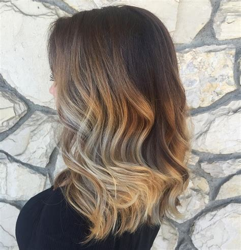 brown and blonde ombre with a line hair cut brown ombre hair ideas for 2017 new hair color ideas