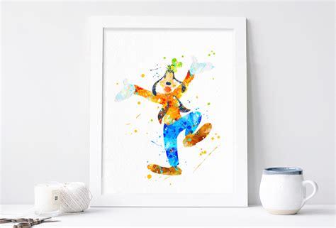 printable disney art phorest studio 187 disney goofy poster disney watercolor