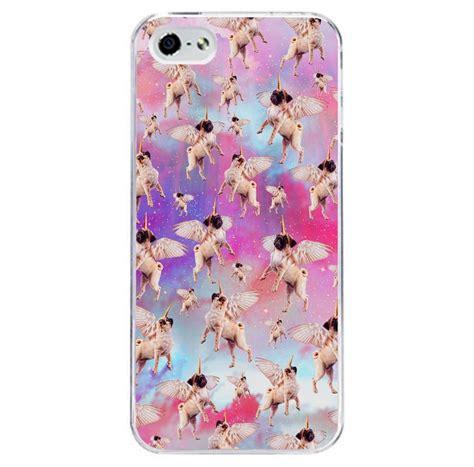 pug phone iphone 6 unicorn pug pattern phone cover fits iphone 4 5 6 7 ebay