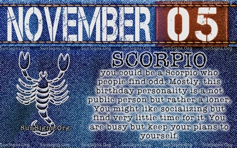 november  birthday horoscope personality sun signs