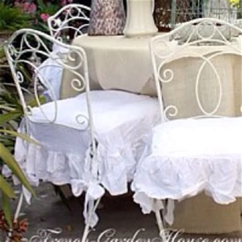 shabby chic ruffled chair cushions 37 best images about ruffle obsession on