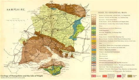 map of the valley isle 9th edition reference solent geology introduction southton water brambles