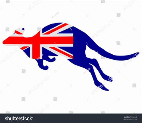Email Address Search Australia Flag Of Australia With Kangaroo Stock Vector Illustration 51890962