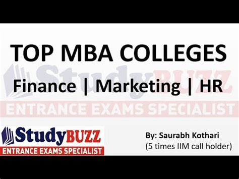 Best Colleges For Mba In Hr by Appearing For Cat Check The Top Mba Colleges In Finance