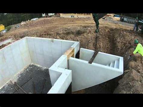 precast basement steps install
