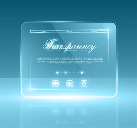 Transparent Glass Website Template Vector Vector Web Design Free Download Glass Website Templates