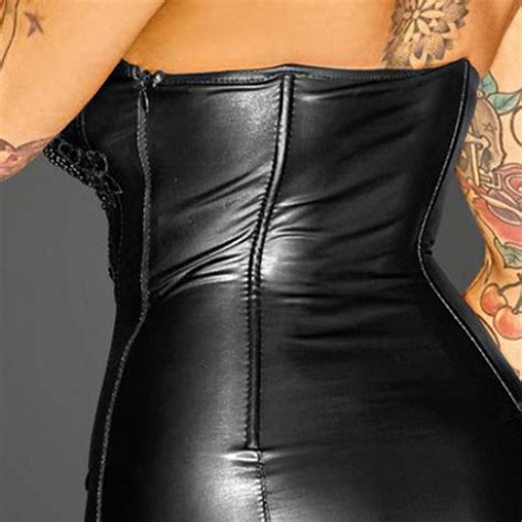 noir handmade glamorous corsagen kleid