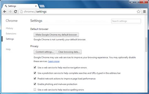 chrome settings chrome disable javascript on page phpsourcecode net