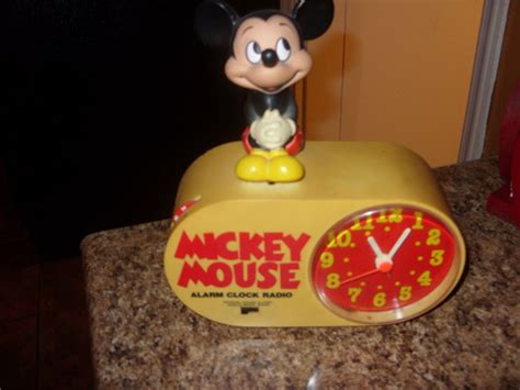 vintage mickey mouse alarm clock radio collectors weekly