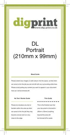 free templates for dl flyers digprint dl a4 6pp z fold 297mm x 210mm paper crafts